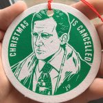 2019 Michael Scott Christmas Ornament